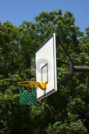 Outdoor basketball stock photo, Outdoors basketball basket on a sunny summer day by Kheng Guan Toh