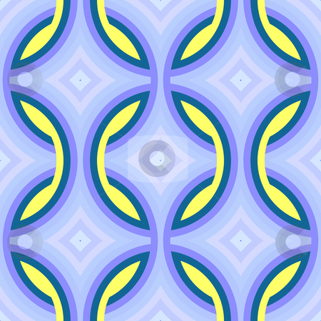 Retro pattern stock photo, Retro geometric shape pattern texture background can be used for wallpaper or fabric by Kheng Guan Toh