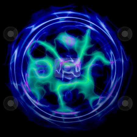 Lightning sphere stock photo, Plasma ball sphere of glowing lightning energy by Kheng Guan Toh