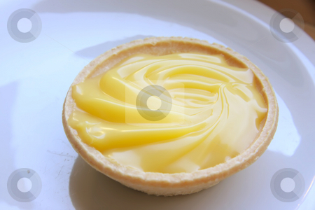 Lemon tart stock photo, Lemon pastry tart sweet sour cream baked dessert by Kheng Guan Toh