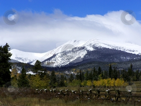 Autumn Colors atop Kenosha Pass, Colorado stock photo, Early change of colors for autumn in Colorado.  Taken atop Kenosha Pass, a (relatively) low pass that leads from the Front Range into South Park. by JKJ Anderson