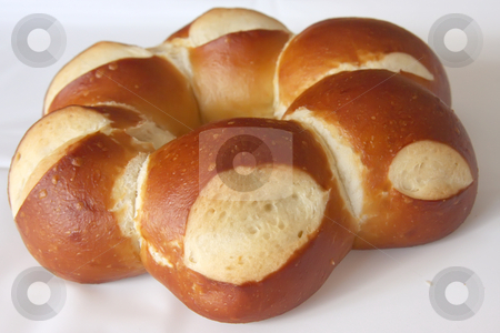 Country bread stock photo, Loaf of fresh whole braided country bread by Kheng Guan Toh