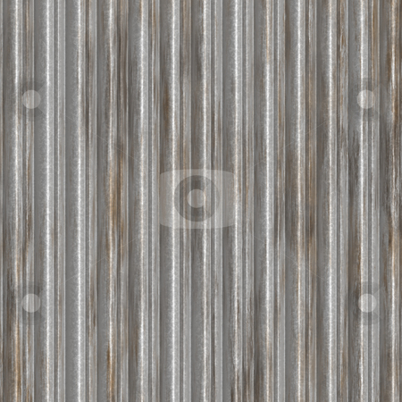 Corrugated metal stock photo, Corrugated metal surface with corrosion texture seamless background illustration by Kheng Guan Toh