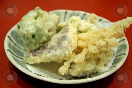 Vegetable tempura stock photo, Vegetable tempura japanese battered fried vegetables traditional cuisine vegetarian by Kheng Guan Toh