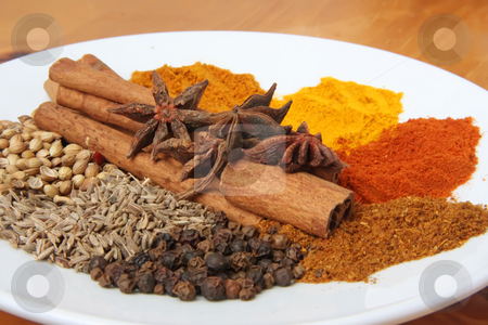 Spices and herbs stock photo, Spices and herbs for seasoning cooking ingredients by Kheng Guan Toh