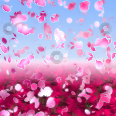 Cherry blossoms stock photo, Cherry blossom pink floral abstract graphic design render by Kheng Guan Toh