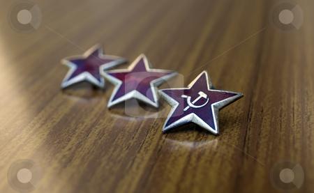 Communist stars stock photo,  by Sinisa Botas