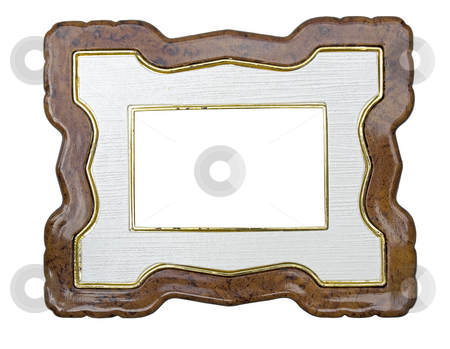 Picture frame stock photo, Picture or photo frame isolated from background with clipping path. by Sinisa Botas