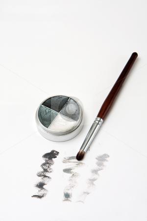 Smokey eye set stock photo, Eyeshadow set for smokey eyes, isolated by Paul Hakimata