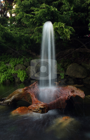 The Fountain stock photo, Beautiful blurred motion image of a fountain. by Megan Lorenz
