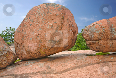 The Elephants at Elephant Rock stock photo, Huge boulders at the top of a mountain of granite. Millions and millions of weathering on display by Mitch Aunger