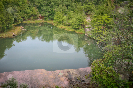 Quary pond at Elephant Rock stock photo, The quary at Elephant Rock is now filled with water - I'm sure it makes a great swimming hole by Mitch Aunger