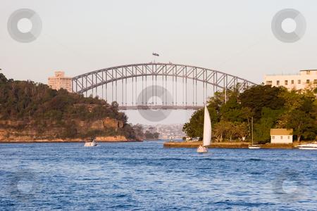 Sydney Harbour Bridge stock photo, Sydney Harbour Bridge from Parramatta river by Nicholas Rjabow