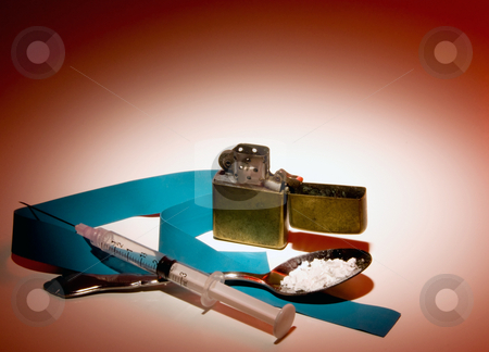 Illegal Street Drugs stock photo, Equipment used in the preparation of illegal street drugs. by Robert Byron