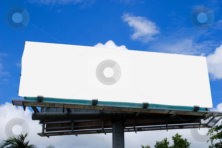 Blank Billboard stock photo, Blank Billboard ready for copy by Robert Cabrera