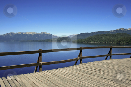 Lake and mountains stock photo, Beautiful landscape in the way to San Martin de los Andes in Argentina by Rafael Franceschini