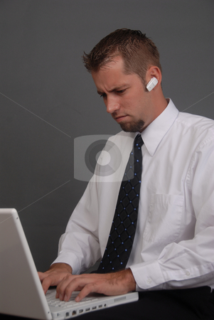 Man at Work stock photo, Young man working by Timothy OLeary