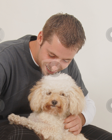 Man and Dog stock photo,  by Timothy OLeary