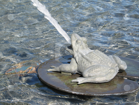 Frog fountain stock photo, Frog fountain by Mbudley Mbudley