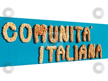 Comunita Italiana stock photo, Banner of