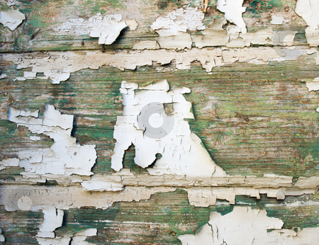 Old paint stock photo, Very old paint on the wooden background. by Sinisa Botas