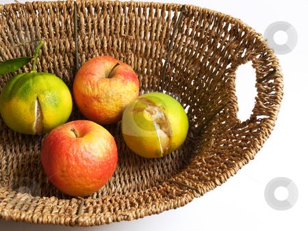 Ruined fructus stock photo, Bad fruits represent problems in agriuclture. by Sinisa Botas