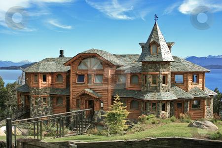 A house by Nahuel Huapi Lake in Bariloche stock photo, A house by Nahuel Huapi Lake in Bariloche by Rafael Franceschini