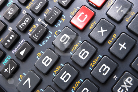 Calculator Keypad stock photo, Calculator Keypad in Close-up by Steve Smith