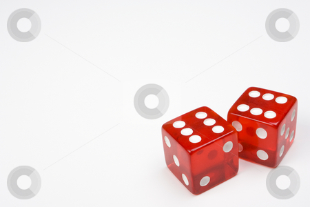 Two Red Dice on Light Background stock photo, Two Red Dice on Light Background by Steve Smith