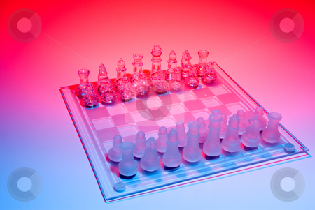 Chess stock photo, Standard chess set. by Robert Byron