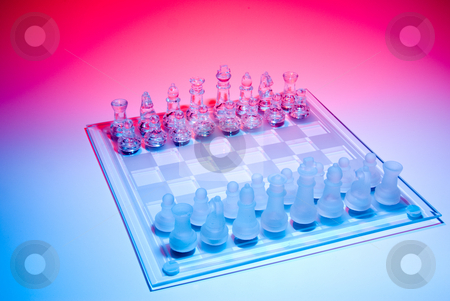 Chess stock photo, A chess set ready for a challange. by Robert Byron