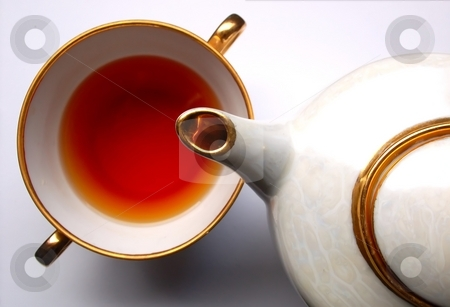Tea stock photo, A cup of tea by Lars Kastilan