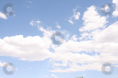 Clouds stock photo, Sunny blue sky and clouds by Robin Russell