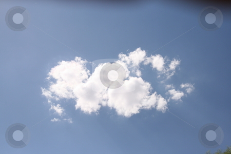 Cloud stock photo, Cloud on blue sky by Robin Russell