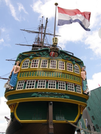 Amsterdam - Ship of the Dutch East India Company stock photo,  by Ritu Jethani