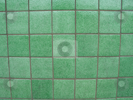Green tiled background stock photo, Green tiled background by Mbudley Mbudley