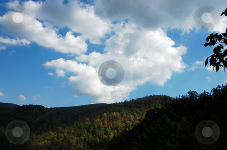 Fall sky stock photo, A view of the North Carolina Mountains in the early fall of the year. by Tim Markley