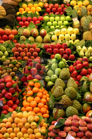 Fruit Medley stock photo, A fruit market stall selling fresh fruit by Jeff Crowe