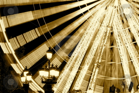 Ferris Wheel stock photo, A giant ferris wheel in Bordeaux, France by Jeff Crowe