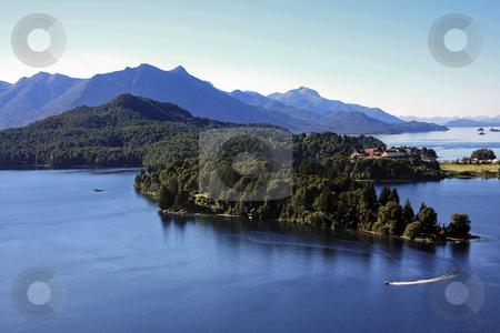 Lake Nahuel Huapi in Bariloche stock photo, Lake Nahuel Huapi in Bariloche during the summer by Rafael Franceschini