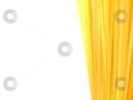 Uncooked Italian pasta Spaghetti background stock photo, Uncooked Italian pasta spaghetti isolated on white with copyspace by Laurent Dambies