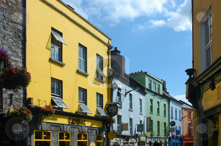 Street Scene Galway stock photo, Street Scene Galway Ireland by Will Burwell