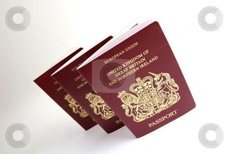 British passport stock photo, uk british passport by Mark Yuill