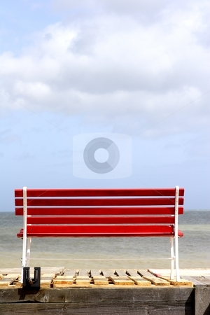 Bench stock photo, Bench with a view by Mark Yuill