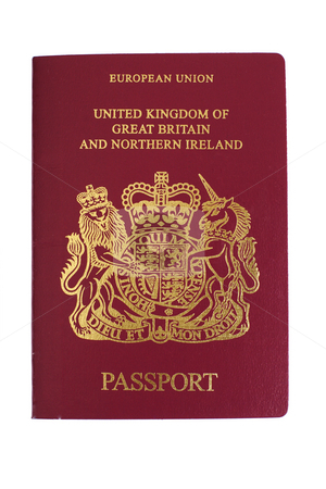 British passport stock photo, uk british passport by Mark Yuill