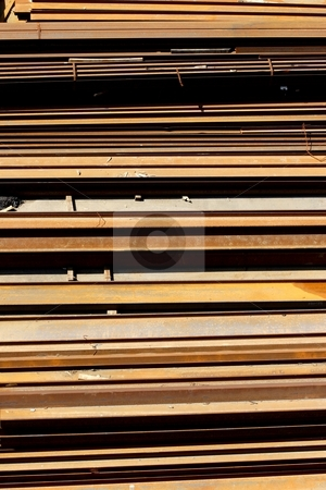 Rusting steel stock photo, Horizontal rusting steel by Mark Yuill