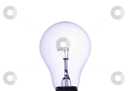 Light bulb stock photo, Light bulb isolated on white background by Mark Yuill