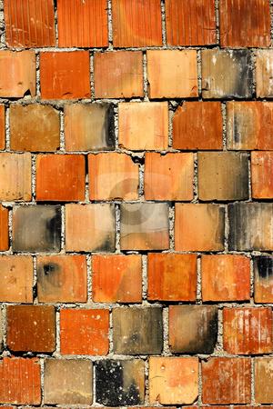 Brick wall stock photo, Colorful brick wall by Mark Yuill
