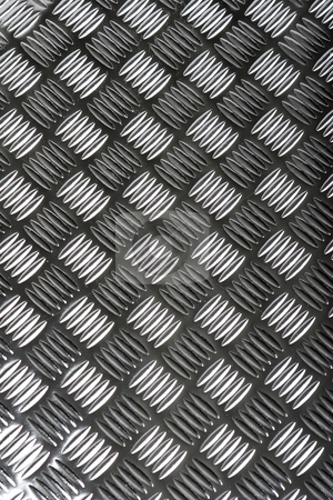Metal flooring stock photo, Grey metal flooring by Mark Yuill