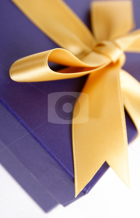 Gift box stock photo, Gift box with ribbon by Mark Yuill
